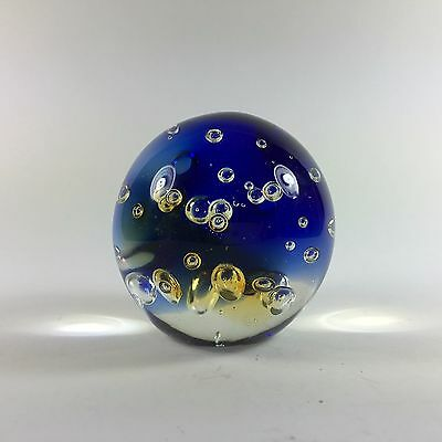 Mid-Century Murano Glass Paperweight Controlled Bubbles