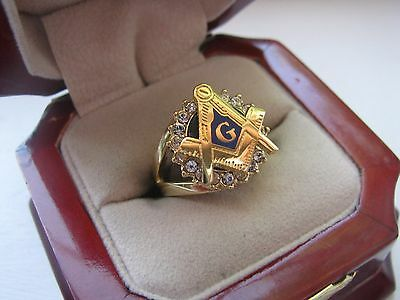 """Superb NEW Ladies """"Masons"""" Wife's Crest Ring *"""