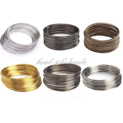 100 Loops/500 Loops Memory Steel Wire Cuff Bangle Bracelet 0.6x60mm/ 0.6x55mm