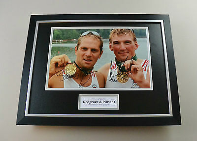Steve Redgrave & Matthew Pinsent Signed Photo Framed 16x12 Autograph Display