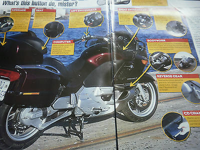 Bmw K1200Lt # 5 Page Original Motorcycle First Ride Article