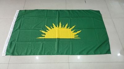 GREEN SUNBURST FLAG - 5' x 3' - IRISH REPUBLICAN BROTHERHOOD EASTER 1916 RARE