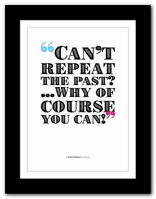 F. SCOTT FITZGERALD The Great Gatsby❤ typography book quote poster art print #24