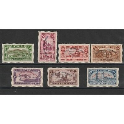 1929 Siria Syrie Expo Damasco  7 V Mnh Yv 192-8 Mf19278