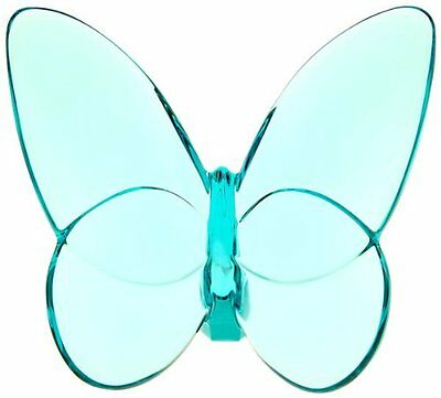 """Baccarat """"Lucky"""" Butterfly Turquoise Crystal 2105932, New, Free Shipping"""