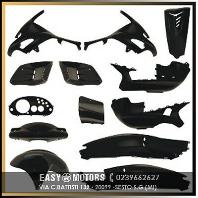 Kit Carene Gilera Runner Fx Fxr Vx Vxr Sp 50 125 180 200 13Pz  2004 Nere