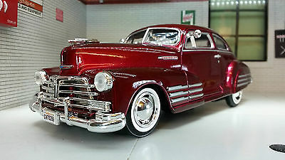 G LGB 1:24 Scale Chevrolet Aerosedan Fleetline 1948 Motormax Model Car 73266 Blu