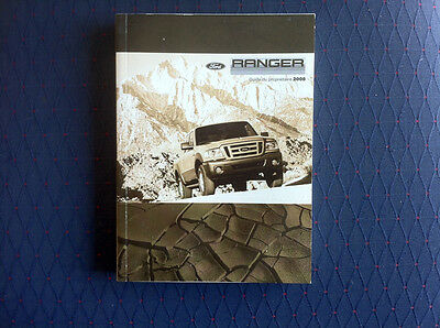 Ford RANGER - 2008 - Owner's Manual - IN FRENCH - ORIGINAL POUNCH