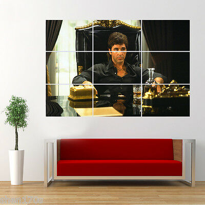 Al Pacino Scarface Poster Giant Huge Wall Art Large A4A2