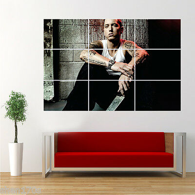 Eminem Slim Shady Rapper Poster   Giant Huge Wall Art Large