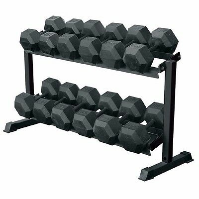 2 Tier Solid Commercial Dumbbell Rack In Box For Hex Dumbbells Or Any Dumbbells