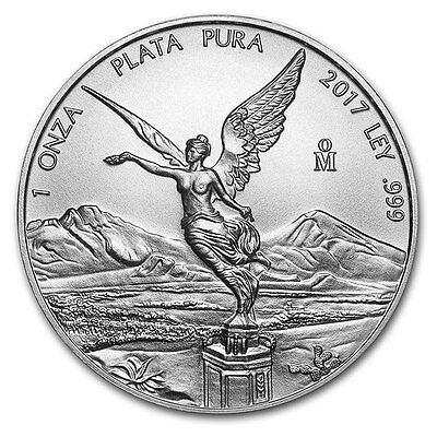 Piece argent Mexico Libertad 2017 1 once argent pur 1 oz silver coin