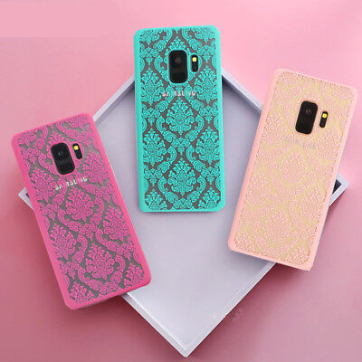 Retro Hollow Pattern Slim Phone Case Cover For Samsung Galaxy S9 Plus S8 S7 Edge