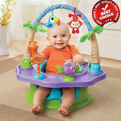 Summer Infant Activity Seat Baby Walker Toddler Center Seat Toys Jungle Chair