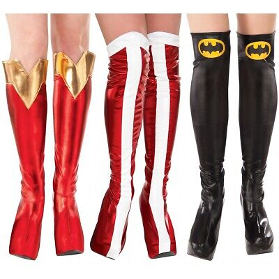 Female Superhero Boot Tops Costume Accessory Adult DC Comics Halloween
