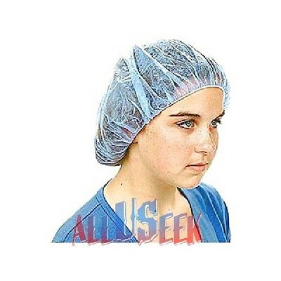Hair Nets Bouffant Caps, Disposable, for Kitchen, Food, & Medical Workers