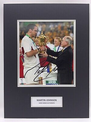 Martin Johnson England Rugby Signed Photo Display + COA + PROOF 2003 WORLD CUP