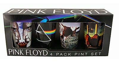 Pink Floyd Pint Glass Set of 4, New, Free Shipping