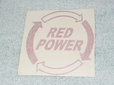 Ih International Harvester Mccormick Farmall Tractor Red Power Red Sticker