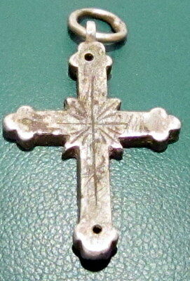 Amazing Very Rare Post-Medieval Silver Pendant Cross # 679