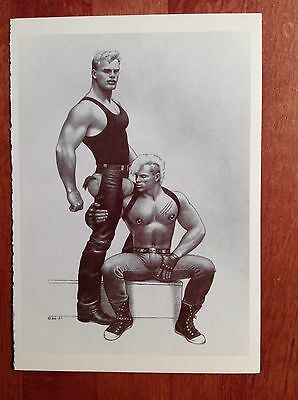 Tom of Finland Postcard by Taschen 1994 Muscle T-Shirt #4