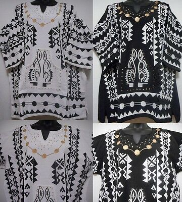Dashiki Men women Mud cloth Shirt African Blouse Vintage Organic Cotton One Size