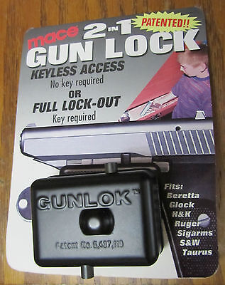 Mace 105016 Keyless Access or Full Lock Out (key Required) 2 in 1 Gun Lock