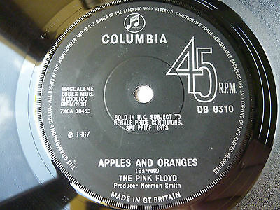 "The Pink Floyd ~ Apples And Oranges 7"" ~ Db 8310 ~ Rare 1967 Uk Mono Original"