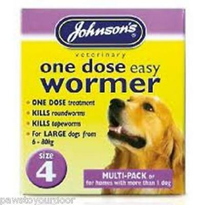 Multi-Pack Dog Wormer Worming Tablets Johnsons Size 4