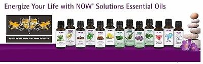 NOW Foods 1oz. Essential Oils For Diffusers & Burners Improve Mood Health FRESH!