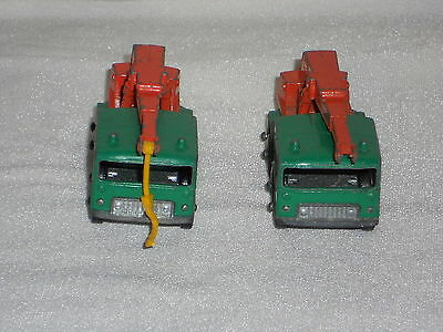 Two Matchbox Lesney No 30 8 Wheel Crane Green