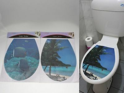 96 x Toilet Seat Stickers Paradise Beach bulk wholesale lot reduced to clear