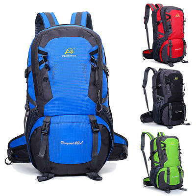 a098603cf327 40L Waterproof Nylon Outdoor Backpack Athletic Sport Hiking Travel Rucksack  Bag