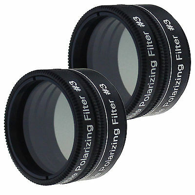 "2Pcs 1.25"" 31.7mm Variable Polarizing Filter for Astronomic Telescope&Eyepiece"