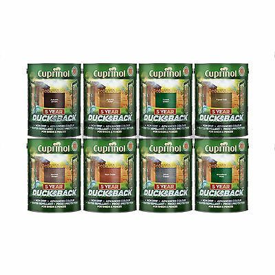Cuprinol 5 Year Ducksback Shed & Fence Paint Stain 5 Litres