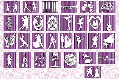 Brother ScanNCut Music & Dance topper templates CD1018