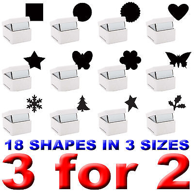 Xcut Palm Punch Handheld Paper Card Shape Craft Stencil Metal Die Cutter S M L