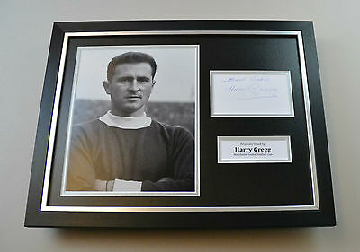 Harry Gregg Signed Photo Framed 16x12 Manchester United Autograph Display + COA