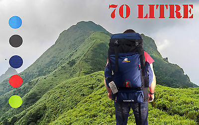 70L Outdoor Travel Backpack Mountain Climbing Knapsack Bag Camping Rucksack