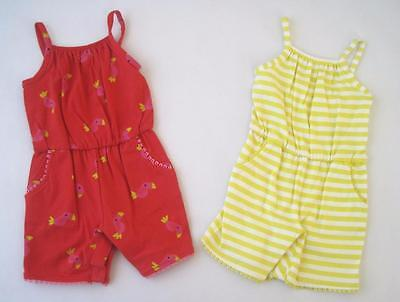 New girls ex faMouS high st cotton summer playsuit  2 pck age  3-6 12-18 months