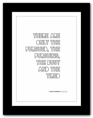 F. SCOTT FITZGERALD The Great Gatsby❤ typography book quote poster art print #26
