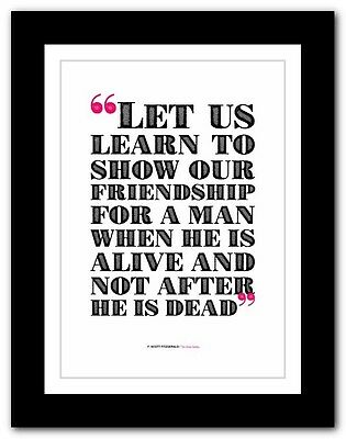 F. SCOTT FITZGERALD The Great Gatsby❤ typography book quote poster art print #27