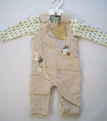 New boys girls pooh heritage  dungarees ex MS outfit age  newborn 3-6 months