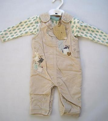 New boys girls unisex pooh heritage dungarees m&s outfit age newborn