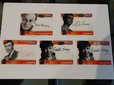 Dr Who Big Screen Additions - 5-Card Autograph Set by Strictly Ink (2008)