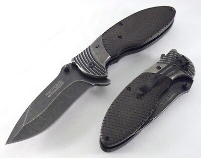 Tac-Force Spring Assisted Knife Wood & Steel Handle With Razor Sharp Blade