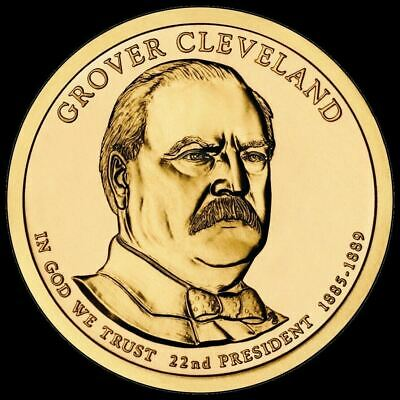 "2012 D Grover Cleveland 1st Term Presidential Dollar ""Uncirculated"" US Coin BU"