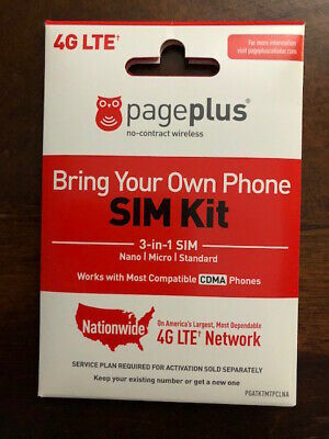 Page Plus 4G Lte Nano Sim Card = Verizon Wireless Unlimited