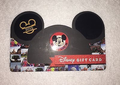 New Disney World Mickey Mouse Ears Hat Gift Card Die Cut