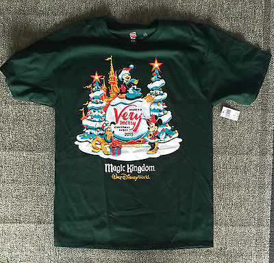 2015 Disney Parks Mickey's Very Merry Christmas Party T-Shirt Small or Medium